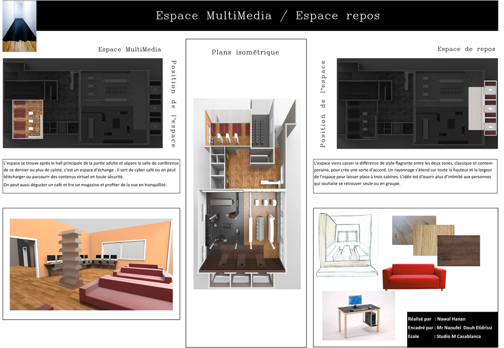 Projet de fin d tudes en design d int rieur cole for Design d interieur casablanca